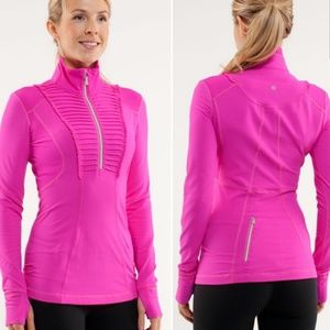 LULULEMON Run Your Heart Out Pullover Paris Pink